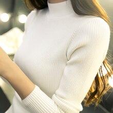 2017 novo inverno Coreano Curto semi Camisa de Gola de manga comprida camisola de gola alta casaco ajuste