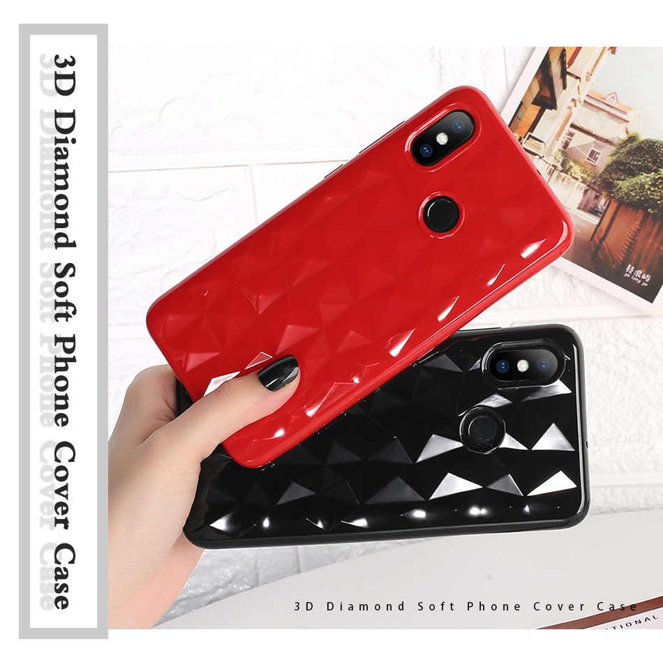 3D Kim Cương Ốp Lưng Điện Thoại Xiaomi 8 Lite 9 SE K20 Pro F1 9T Redmi 7 6 Đi Note 5 6 Note8 Pro 4X 7A CC9 A3 Bao Mềm TPU