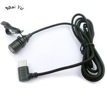Micrófono de teléfono móvil con solapa profesional conector tipo C, Monitor Microfone para Samsung, Huawei, etc.