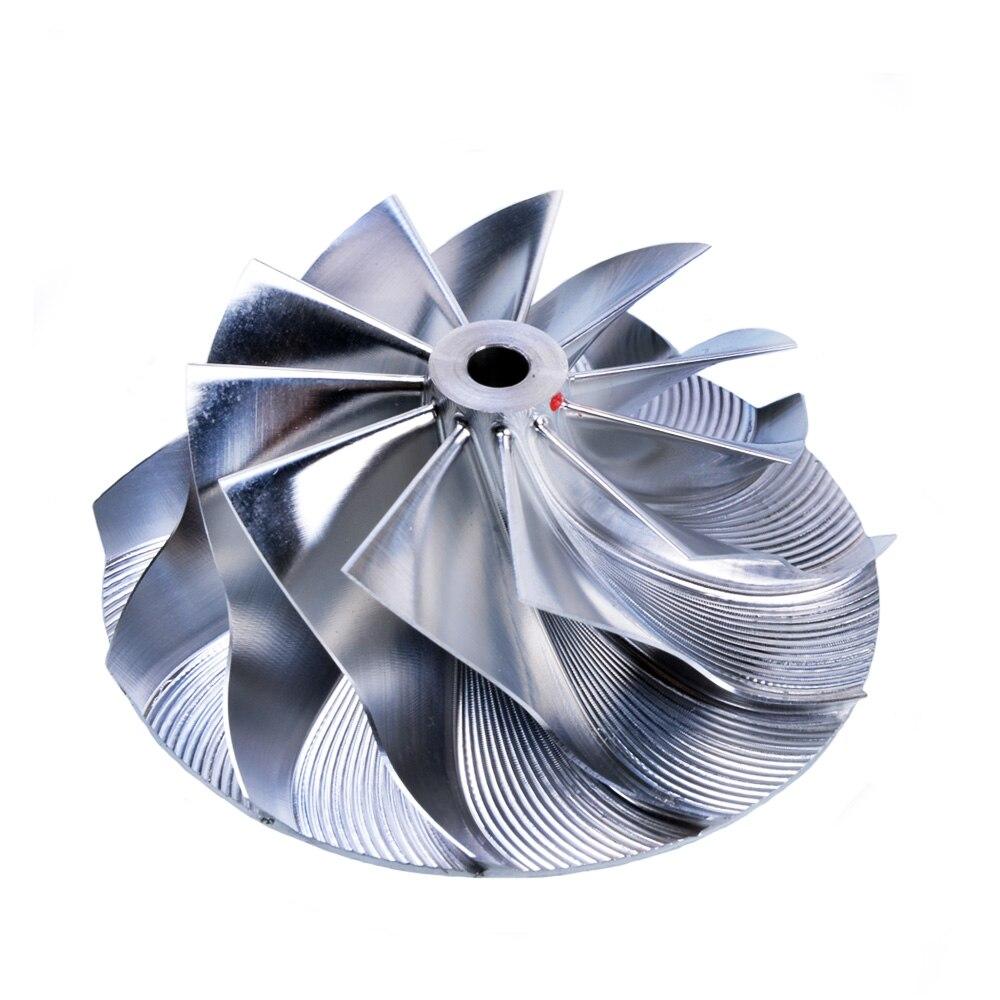 Kinugawa Turbo Billet Compressor Wheel 46.39/60mm 11+0 for K04 K04-064 for AUDI S3 TT Upgrade turbo cartridge chra k04 022 20 53049880022 53049880020 06a145704p 06a145704m for audi s3 tt quattro 99 02 amk apx ajh 1 8t 1 8l