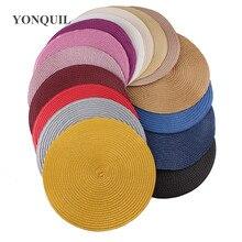 25CM עגול נייר קש בסיס דיסק צלחת Fascinator בסיס sinamay fascinator כובע אקססורי לשיער כנסיית חתונה כובע חדש הגעה
