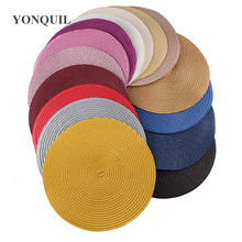 25CM Round Paper straw base Disc Saucer Fascinator Base for sinamay fascinator hat hair accessory church wedding hat NEW ARRIVAL