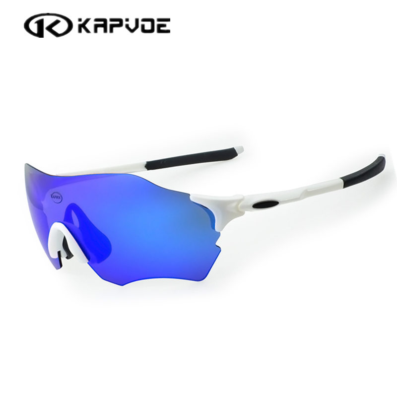 Kapvoe TR90 Sports Cycling Glasses Men Women MTB Mountain Road Bike Bicycle Cycling Eyewear Sunglasses EV Evzero UV400