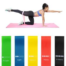 Fitness Rubber Bands Elastic Yoga Resistance Band 0.35mm-1.1mm Pilates Sport Training Elastico Gum Workout Equipment