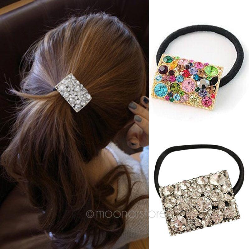 ad37197e18b 1pc Colorful Square Rhinestone Headband Hair Band 2018 New Arrival Women  Girls Flowers Headbands Hair Accessories Headwear