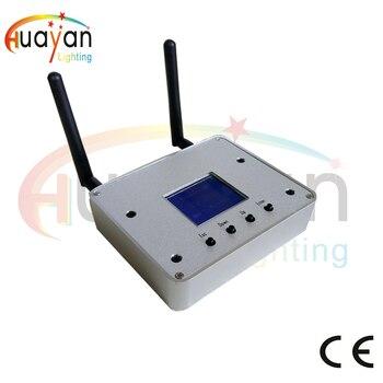Costo de envío gratis transceptor inalámbrico DMX, caja de Control de aplicación para teléfono inteligente, transceptor DMX inalámbrico de 2,4G + caja de aire Wifi de 2,4G
