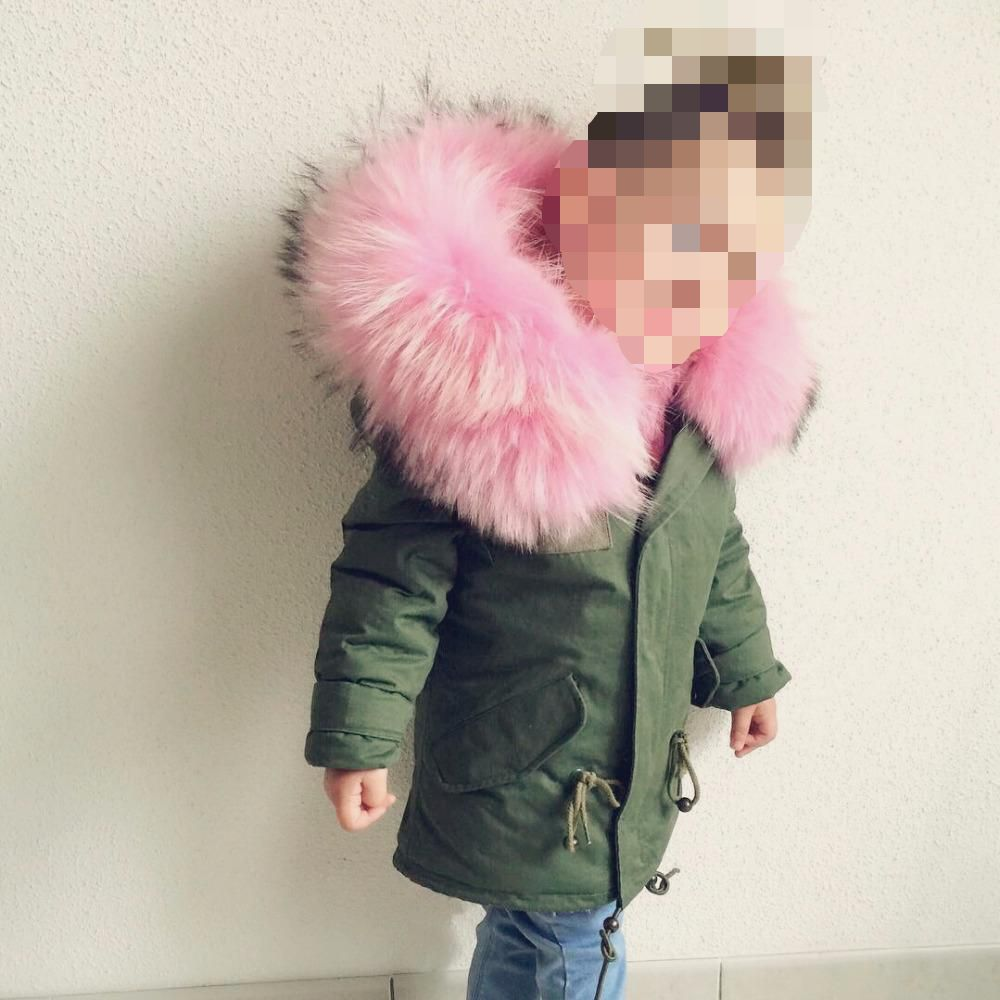 Winter Girls Coats Jackets Kids Artificial Fur Collar Thick Coat For Baby Girl Children Russia Spring Outwear Girls WUA88291 new spring teenagers kids clothes pu leather girls jackets children outwear for baby girls boys zipper clothing coats costume