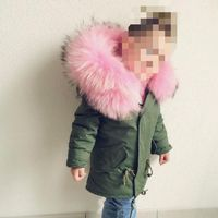 Winter Girls Coats Jackets Kids Artificial Fur Collar Thick Coat For Baby Girl Children Russia Spring Outwear Girls WUA88291