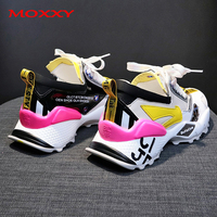 2019 New Designer Chunky Sneakers Women Candy Colorful Dad Sneakers Platform Fashion Casual Shoes Woman Comfort chaussures femme