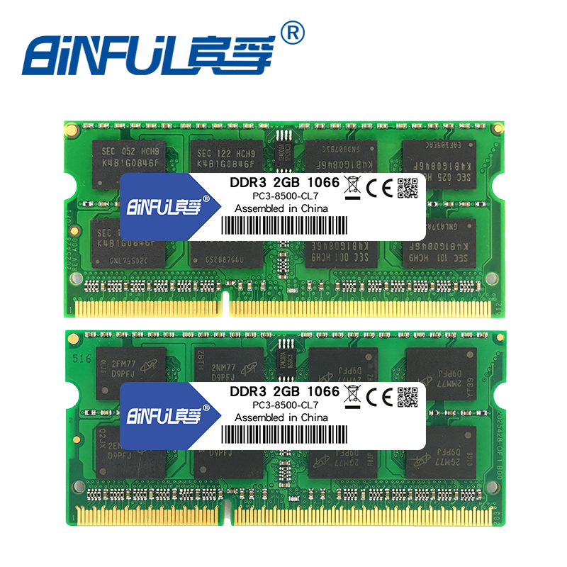 BINFUL Brand New Sealed DDR3 2GB 4GB 1066mhz 1333 1600 PC3-12800 / 8500/10600 Bärbar RAM-minne / Livstidsgaranti Gratis frakt