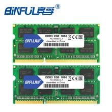 Binful Фирменная Новинка герметичные DDR3 2 ГБ 4 ГБ 1066 мГц 1333 1600 PC3-12800/8500/10600 ноутбука Оперативная память памяти /пожизненная гарантия бесплатная доставка