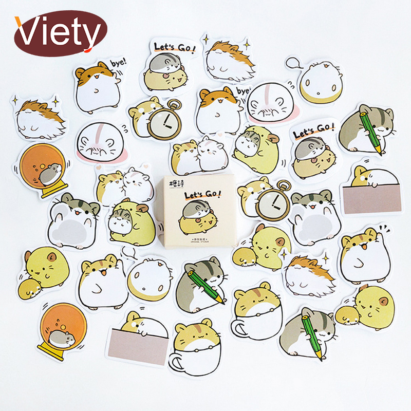 45 Pcs/box Cute Animals Mouse Mini Paper Sticker Decoration Decal Diy Album Scrapbooking Seal Sticker Kawaii Stationery Gift