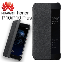 HUAWEI P10 Plus Case Cover 100 Original Flip Cover Smart Window Auto Wake UP Leather For