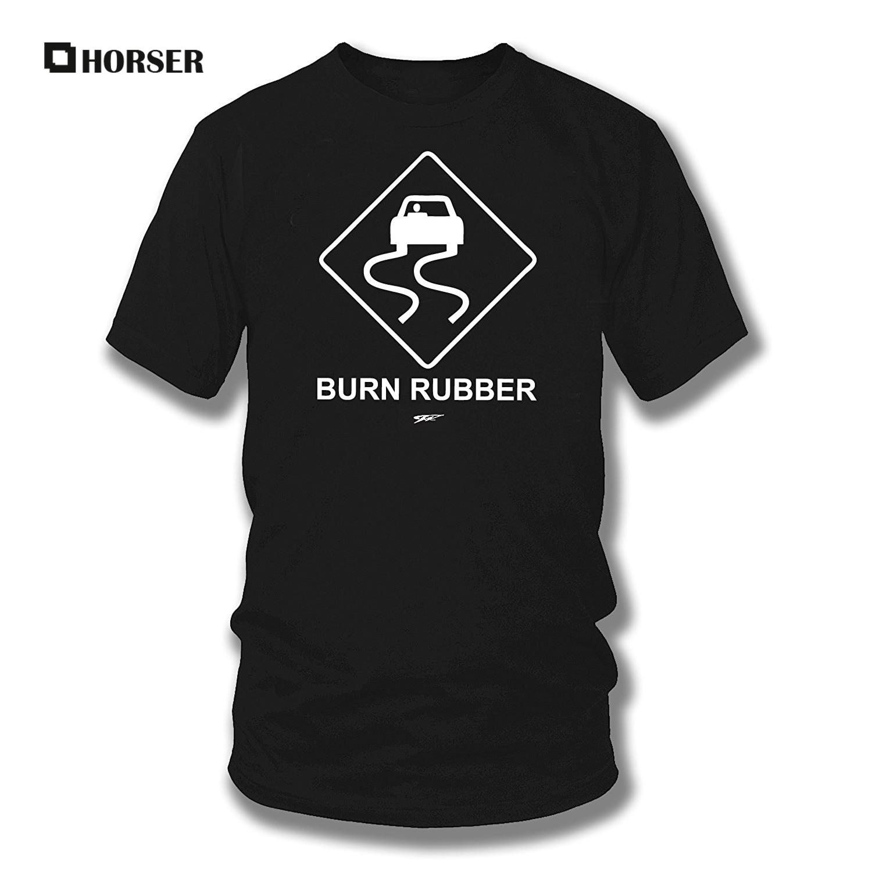Burn Rubber Sign t-Shirt, Old Car, Street Rac, Muscle Car Shirt