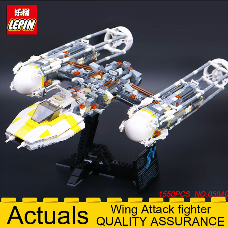 Lepin 05040 Star Series Wars Y Star wing Attack fighter Building Blocks Bricks Toy for children Compatible legolys 10134 1550PCS lepin 05040 y attack starfighter wing building block assembled brick star series war toys compatible with 10134 educational gift