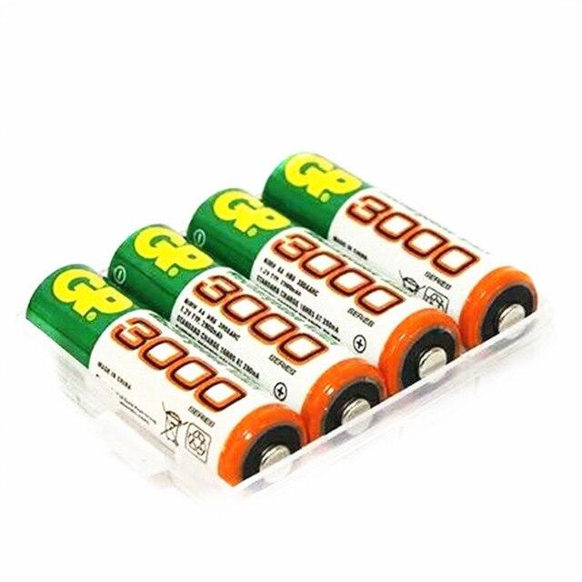 4 Шт./лот Оптовая Для GP AA 1.2 В Ni-Mh 3000 мАч AA Перезаряжаемые батарей игрушки