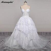 Chiffon Beach Appliques Beading Wedding Dresses Sweep Train See Through Buttons Back Bride Dress Simple Summer