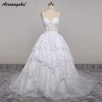 Chiffon Appliques Beading Wedding Dresses Sweep Train See Through Buttons Back Bride Dress Simple Summer Wedding Gown