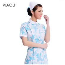 Medical uniforms 2017 nursing scrubs Clothes For Beauty Shop Short Sleeve Doctor Clothing uniformes hospital women Work dress