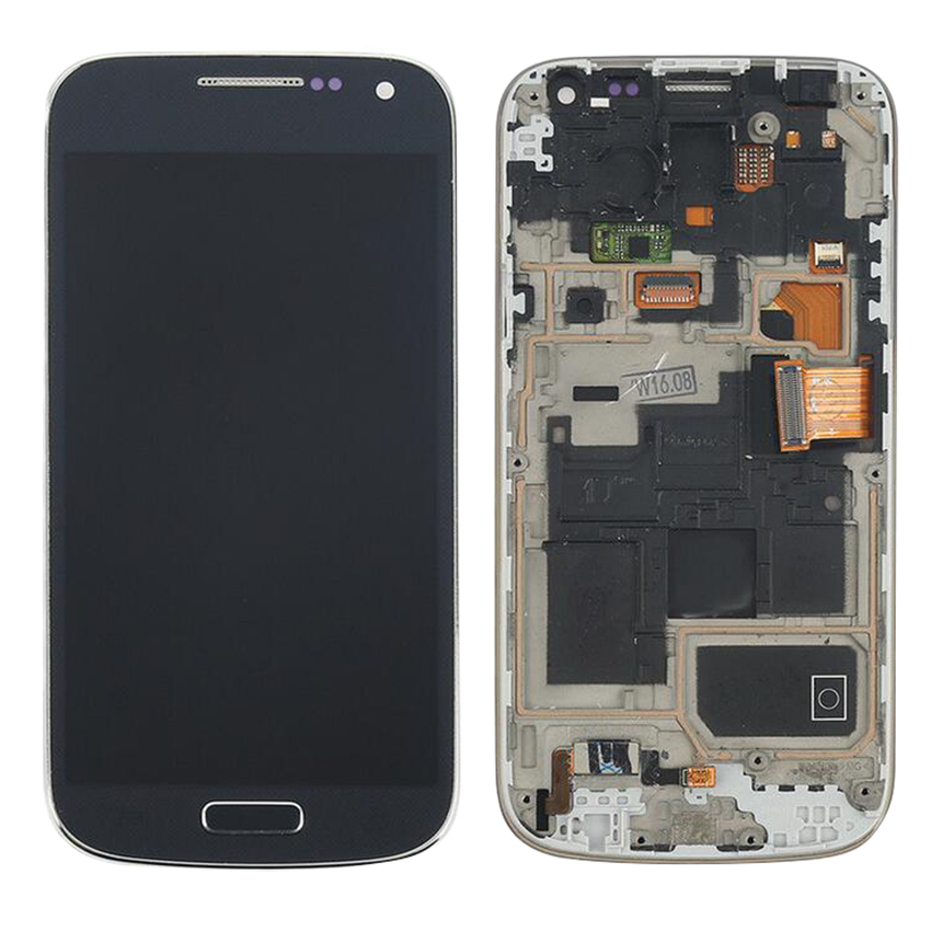 Tested Super AMOLED LCD For Samsung Galaxy S4 Mini I9190 i9192 i9195 Screen Touch Digitizer Replacement with Frame 100%