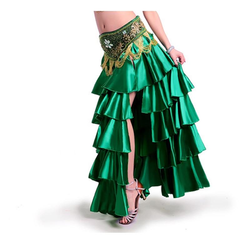 Venta caliente del envío libre de la alta calidad nuevo bellydancing faldas traje de falda de danza del vientre vestido de entrenamiento o rendimiento -6018