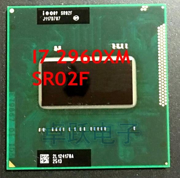 Оригинальный процессор Intel Core i7-2960XM (кэш 8M, 2,70 ГГц до 3,70 ГГц, i7 2960XM) SR02F, четырехъядерный, PGA988, ЦП для ноутбука HM67 QM67