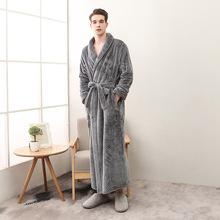 New Winter Long Lovers Bathrobe Men Women Long thickening Kimono Bath Robe Male Dressing Gown Female