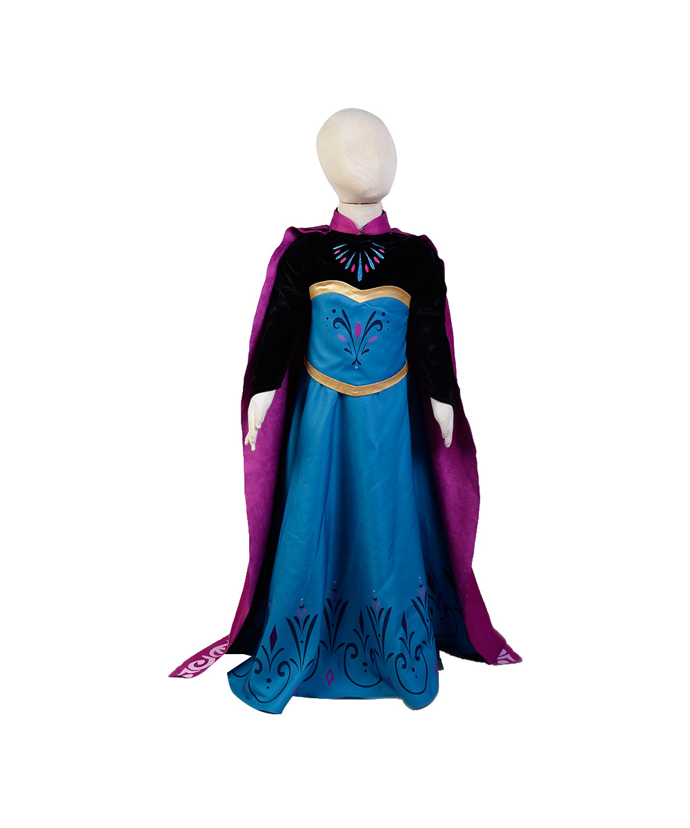 Elsa Coronation Cosplay Snow Queen Costumes Children Princess Kid Dresses Full Set Christmas Party Princess Elsa For Girl