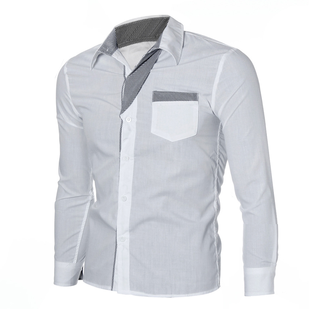 Mens Shirts Long Sleeve Casual Cotton Shirts Men High Quality