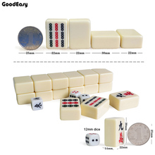 Mahjong-Set Board-Game Table Chinese Family Traveling Mini Option 30mm 3-Color Funny