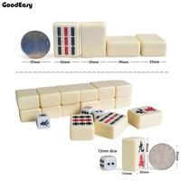 30mm Traveling Mini Mahjong Set Mahjong Games Home Games Chinese Funny Family Table Board Game 3 color option