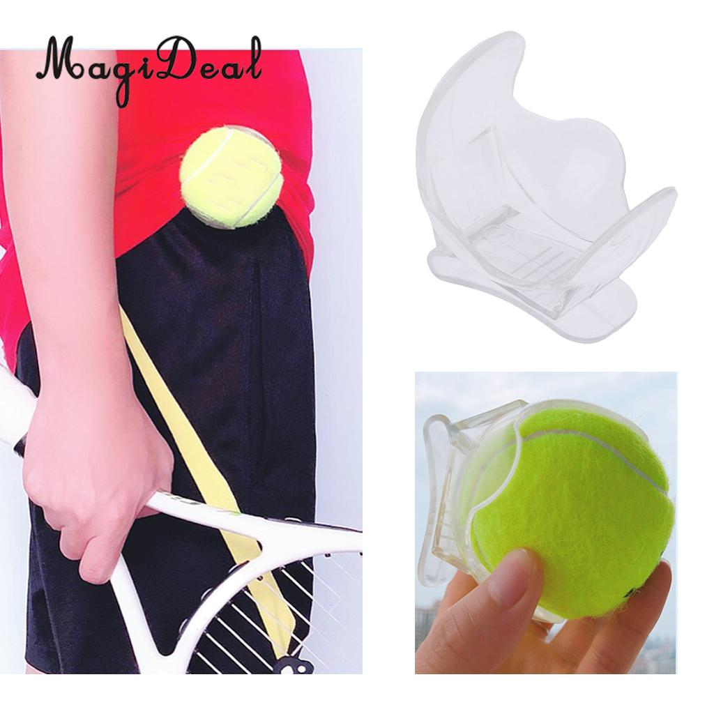 Durable Professional Tennis Ball Clip Tennis Ball Holder Waist Clip Transparent Holds Tennis Training Equipment Accessories