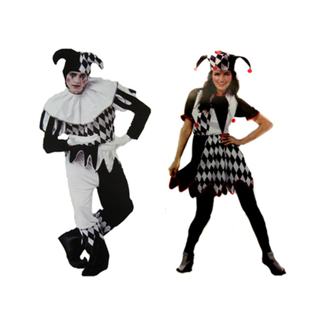 Halloween Couple Love Cosplay Clothes Clown Men Women Adult Costumes Circus Stage Droll Cosplay Clothing for  sc 1 st  AliExpress.com & Halloween Couple Love Cosplay Clothes Clown Men Women Adult Costumes ...