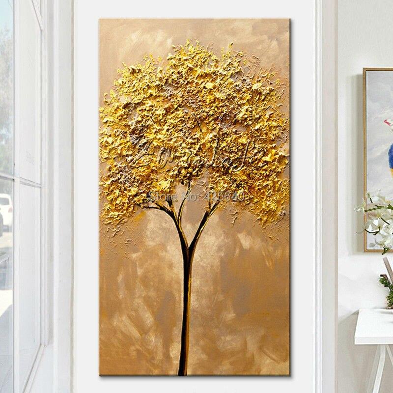 ᐂCuchillo de paleta pintado a mano moderno 3D textura flor y árbol ...