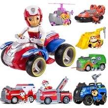 Genuíno cão Pata patrulha patrulha carro Brinquedos modelo Figura de Ação Estatueta patrulla canina De Brinquedo de Plástico crianças brinquedos de presente