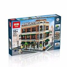 2016 LEPIN 15017 4616Pcs City Street Creator Starbucks Bookstore Cafe Model Building Kit Minifigure Blocks Bricks Compatible Toy