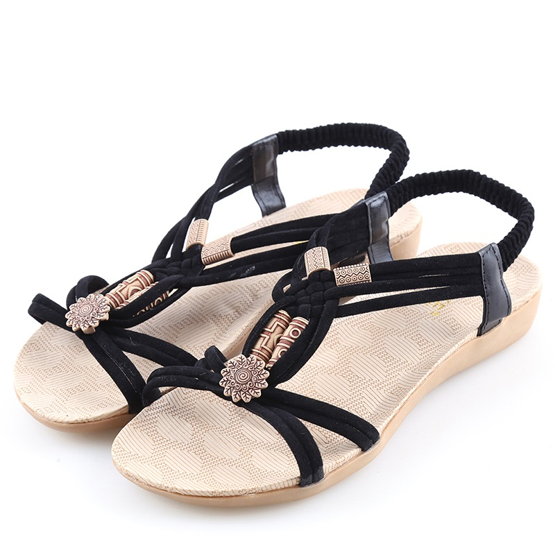 Sandalias mujer 2018 summer shoes gladiator sandals women flat fashion sandals comfortable flip flops ladies shoes 2017 women sandals plus size 36 42 summer shoes woman fashion flip flops ladies shoes sandalias mujer black beige