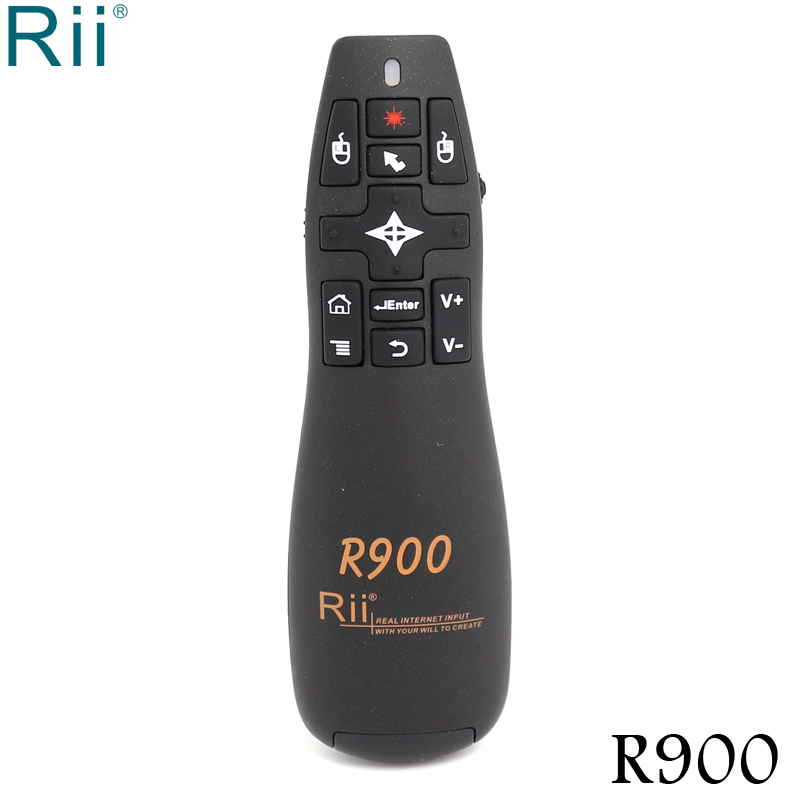 Original Rii R900 2.4GHz Mini Wireless Air Mouse with Laser Pointer for Android TV Box/Mini PC/HD Player