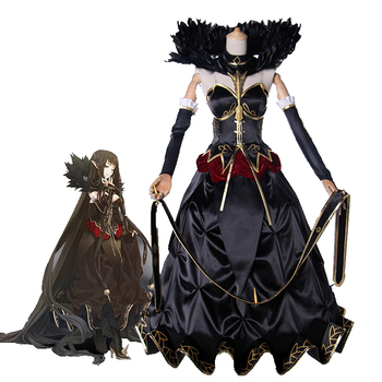 Fate Apocrypha Semiramis Cosplay Costume Halloween Carnival Black Ball Gown Dress Queen Sammu-ramat Uniform Full Set Custom Made