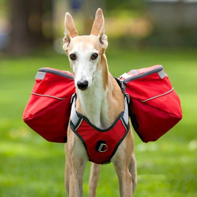 Oxford-harnais de voyage pour animaux   Grand chien, sac à dos, grand Animal de protection, marche en plein air, sangles de poitrine du Labrador