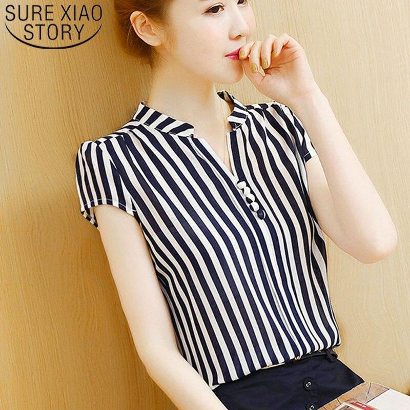 Womens tops   blouses   2019 chiffon   blouse     shirt   harajuku white   shirt   Button Floral V-Neck off shoulder top ladies tops 3419 50