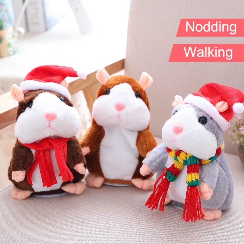 Elektronische Plüschtiere 1 Stücke Reden Hamster Maus Haustier Spielzeug Sprechen Reden Sound Record Hamster Pädagogisches Plüsch Spielzeug Für Kinder Weihnachten Geschenk Fj88 Elegante Form