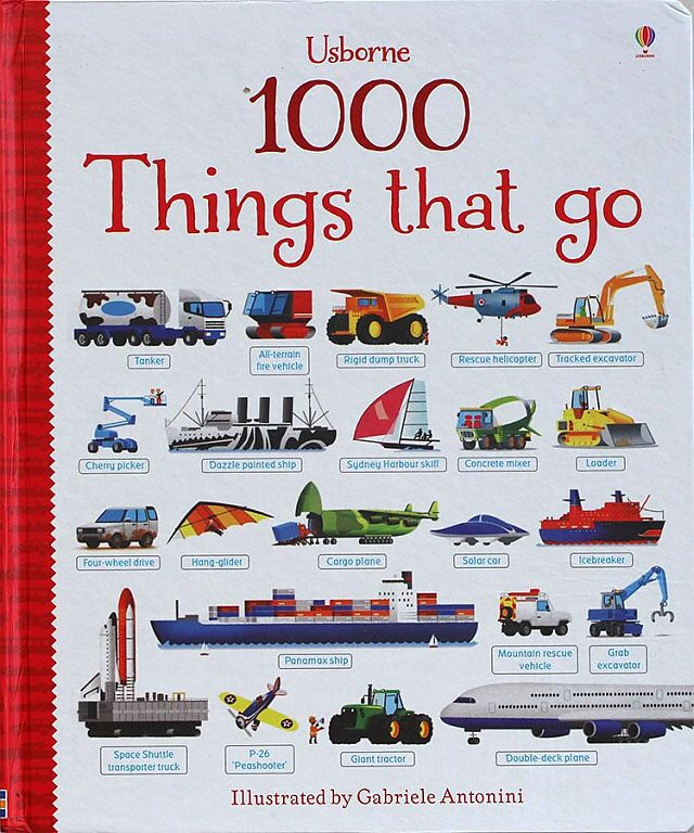 1 Pcs 1000 Things That Go Word Learning Board Book Famous Picture For Kids Girls Gifts Books For Children