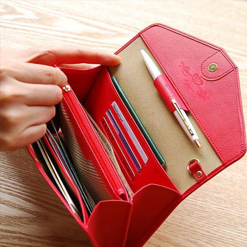 Új design névjegykártyatartó nő kártya útlevél borító - Pénztárcák