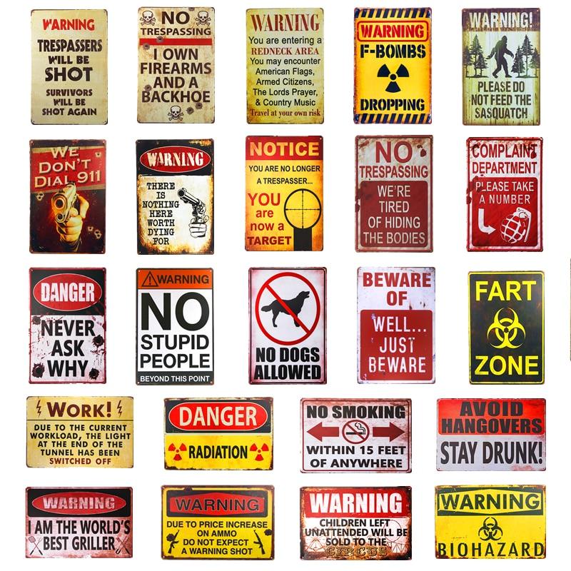 Creative Wall Sign Wrought Iron Sign Home Yard Wall Decoration Metal Warning V