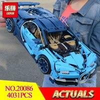 New Lepin 20086 Technic Series Bugatti Supercar Chiron Building Blocks Bricks Toys LegoINGlys 42083 for Children Gift