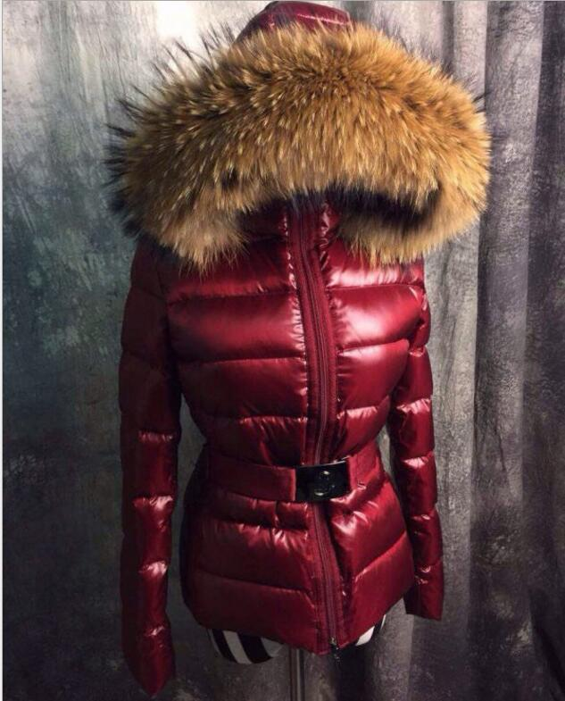2016 New 90% white duck   down     Down   Jacket Brand Women Slim   Coat     Down   Jacket real raccoon Fur Collar Female Winter Outwear