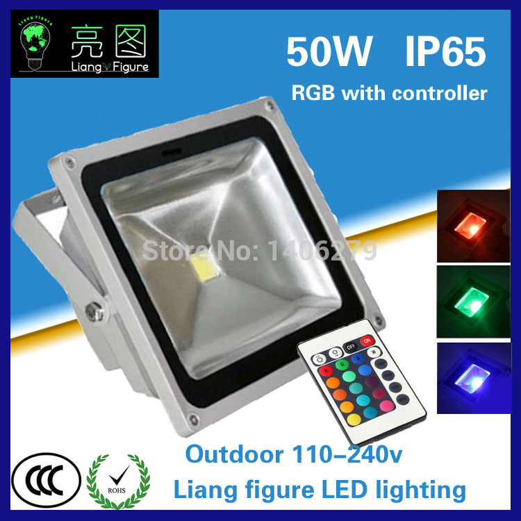 50w DC 90-260V RGB led floodlight IP65 LED Spotlight LED Projector lamp light for square hotel wedding ultrathin led flood light 200w ac85 265v waterproof ip65 floodlight spotlight outdoor lighting free shipping