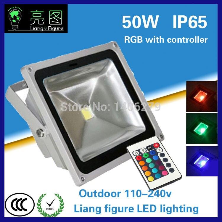 50w DC 90-260V RGB led floodlight IP65 LED Spotlight LED Projector lamp light for square hotel wedding