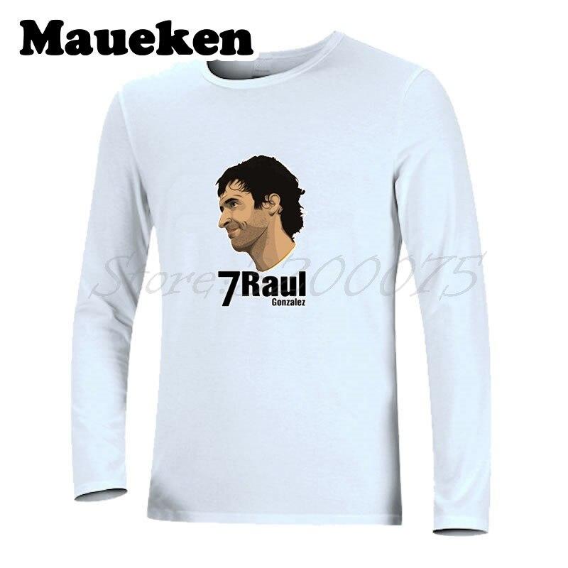 Men Bernabeu Prince #7 Raul Gonzalez Blanco 1994~2010 Autumn Winter T Shirt Long Sleeve Legend Men's Spain W1101007